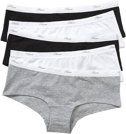 Hanes Women's Underwear Cotton Blend Shortie Brief (5 Pack)