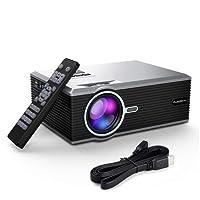 FLOUREON Video Projecteur Portable, Rétroprojecteur, Supporte Le 1080p, Compatible avec Smartphone/PC /Lecteur DVD/Xbox /PS4 pour Jeux Vidéos et Films