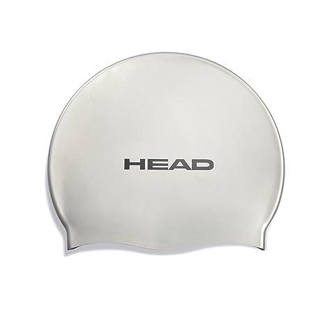 de2716059dae Head Silicone cuffia nuoto - Silver: Amazon.it: Sport e tempo libero