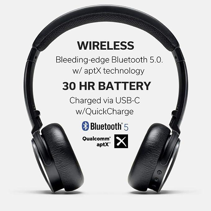 Amazon Com Status Audio Bt One Wireless On Ear Headphones Bluetooth 5 0 Aptx 30 Hours Of Battery Usb C Quick Charge Award Winning Sound Minimalist Metal Design Matte Finish Jetblack Home
