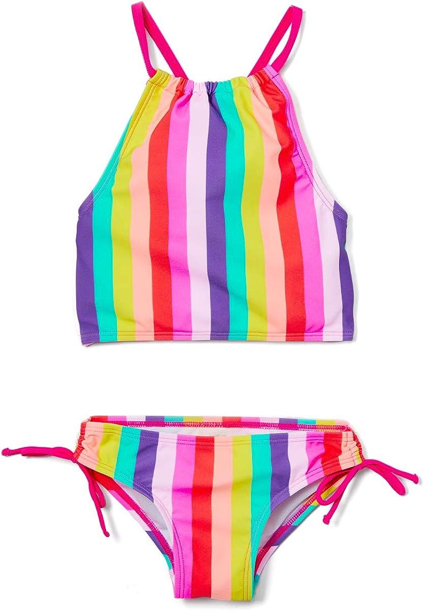 Kanu Surf Girls Daisy Beach Sport Halter Tankini 2-Piece Swimsuit