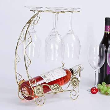 Amazoncom Jiuqihome Creative Wine Rack Decoration Wine Glass Shelf