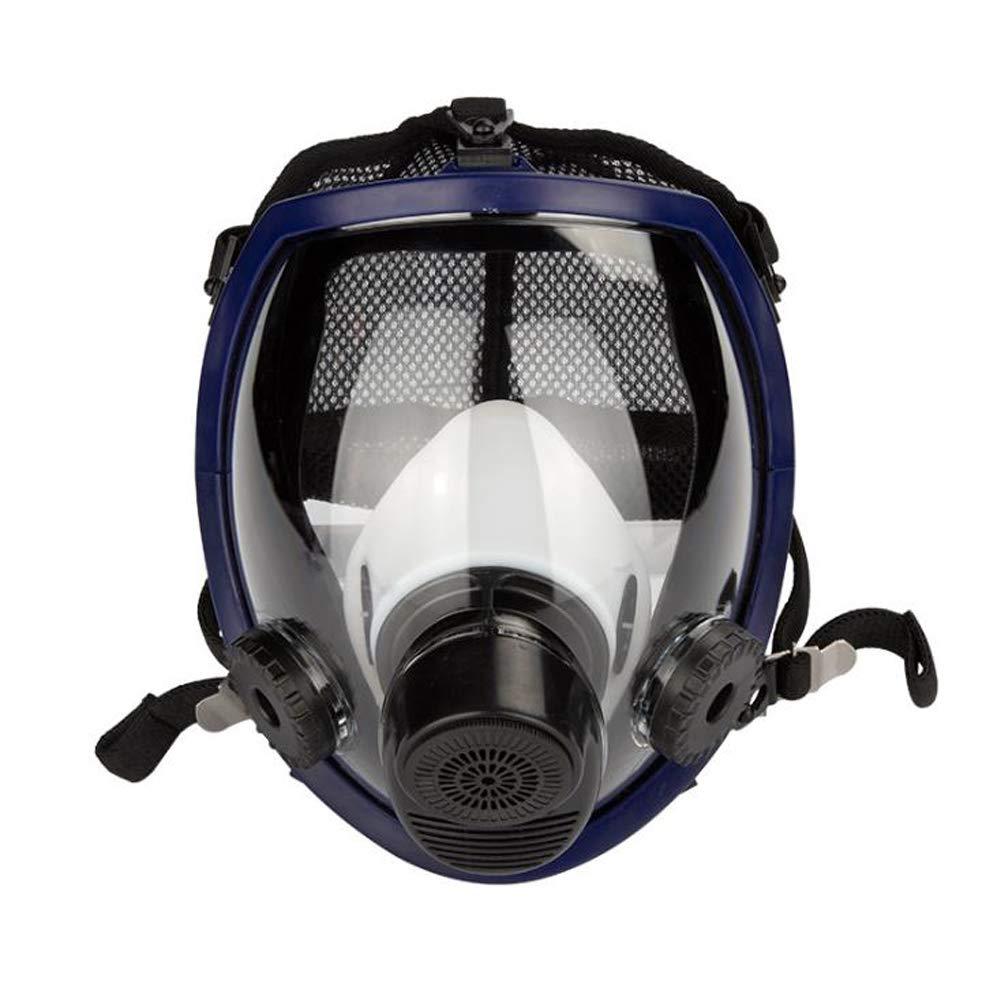 TX Filtro Autocebante Máscara Antigás Cubierta De Cara Completa Equipo De Protección para Bomberos con Visión Salvaje