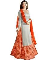 AnK Women's Georgette & Banglori Silk Semi-stitched Salwar Suit