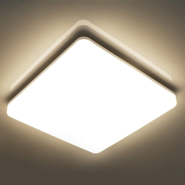 Olafus 18W LED Deckenleuchte Bad /Ø24cm Wandlampe Rund Ideal f/ür Badezimmer K/üche Balkon IP54 Wasserfest Badlampe Warmwei/ß 2700K 1600lm Bad Deckenlampe Feuchtraum