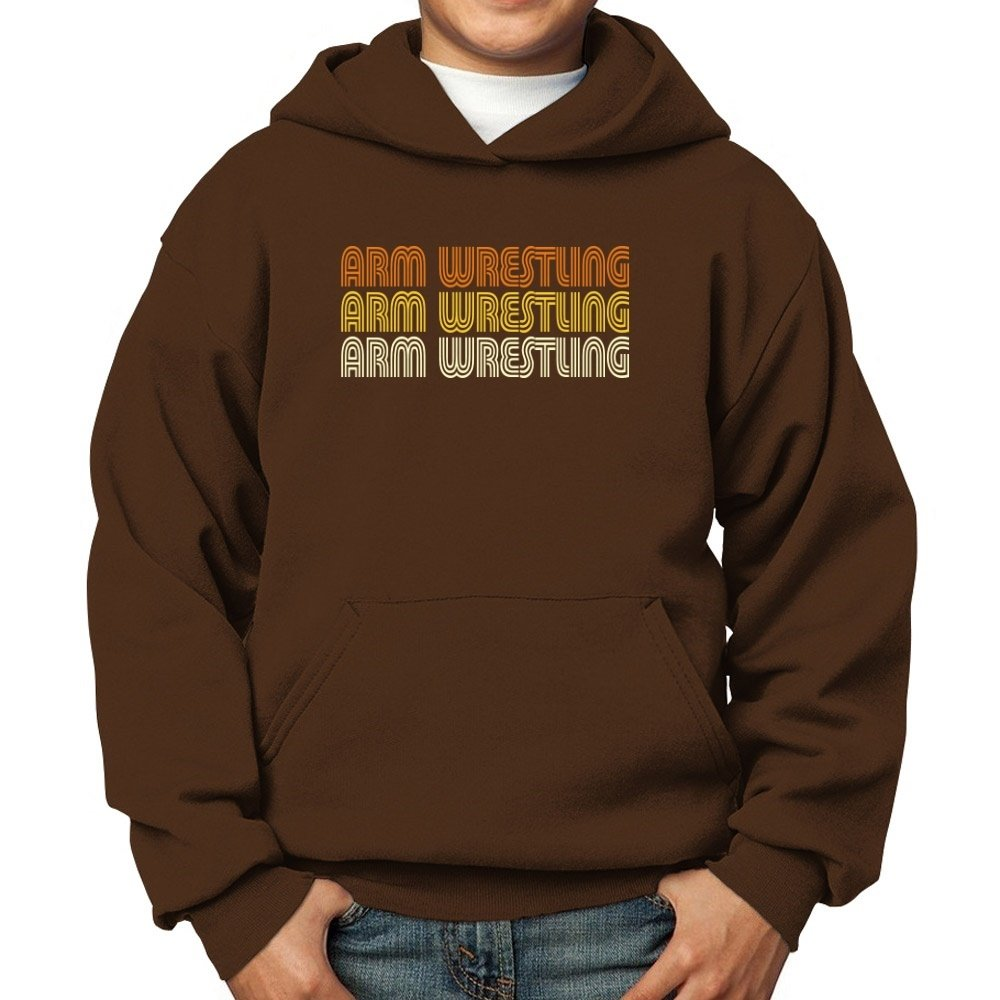 Teeburon Arm Wrestling Retro Color Boy Hoodie by Teeburon