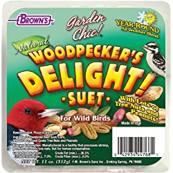 F.M. Brown's Garden Chic Suet and Bread Cakes, 11-Ounce, Woodpecker's Delight