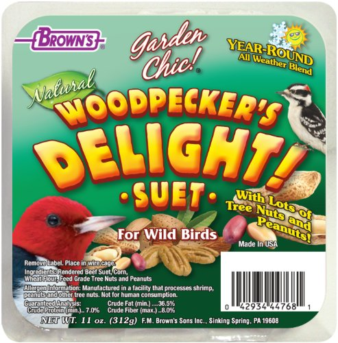 F.M. Brown's Garden Chic Suet and Bread Cakes, 11-Ounce, Woodpecker's Delight (Bird Food Suet compare prices)