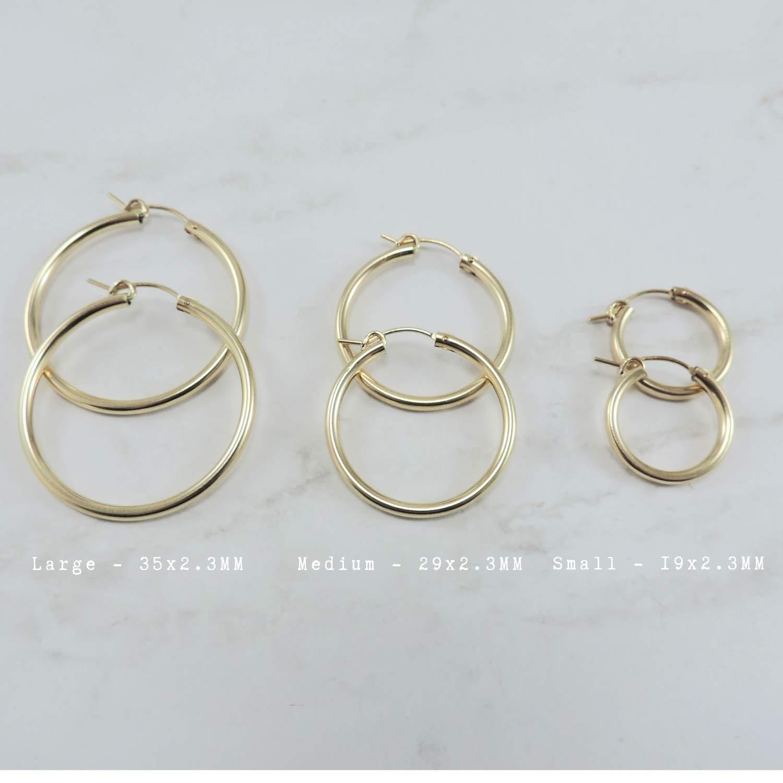 Gold Huggie Hoop Earrings  14k Gold Filled Hoop Earrings  Small Hoop Earrings  Dainty Gold Small Hoops Earrings