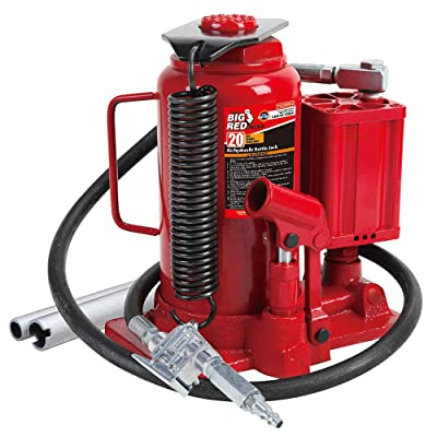 BIG RED TA92006 Torin Pneumatic Air Hydraulic Bottle Jack with Manual Hand Pump, 20 Ton (40,000 lb) Capacity: Automotive