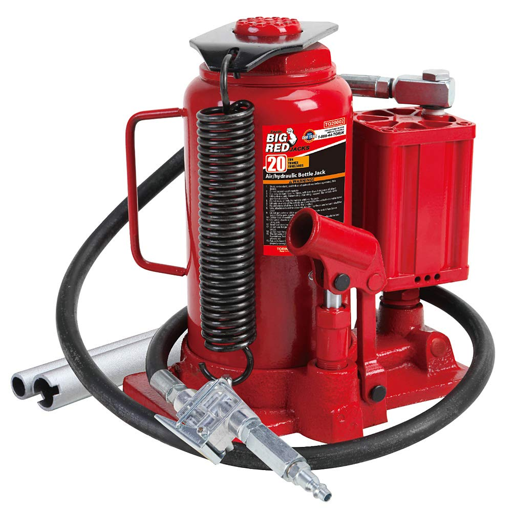 Torin Big Red Air Hydraulic Bottle Jack, 20 Ton Capacity by Torin