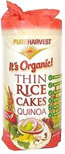 Pureharvest Organic Thin Quinoa Rice Cakes, 150 g
