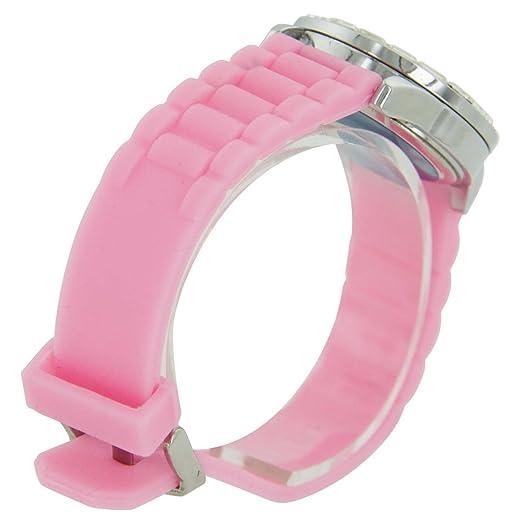 Louis Valentin F - Montre pour Femme Bracelet Silicone Rose L. VALENTIN 176: Amazon.es: Relojes