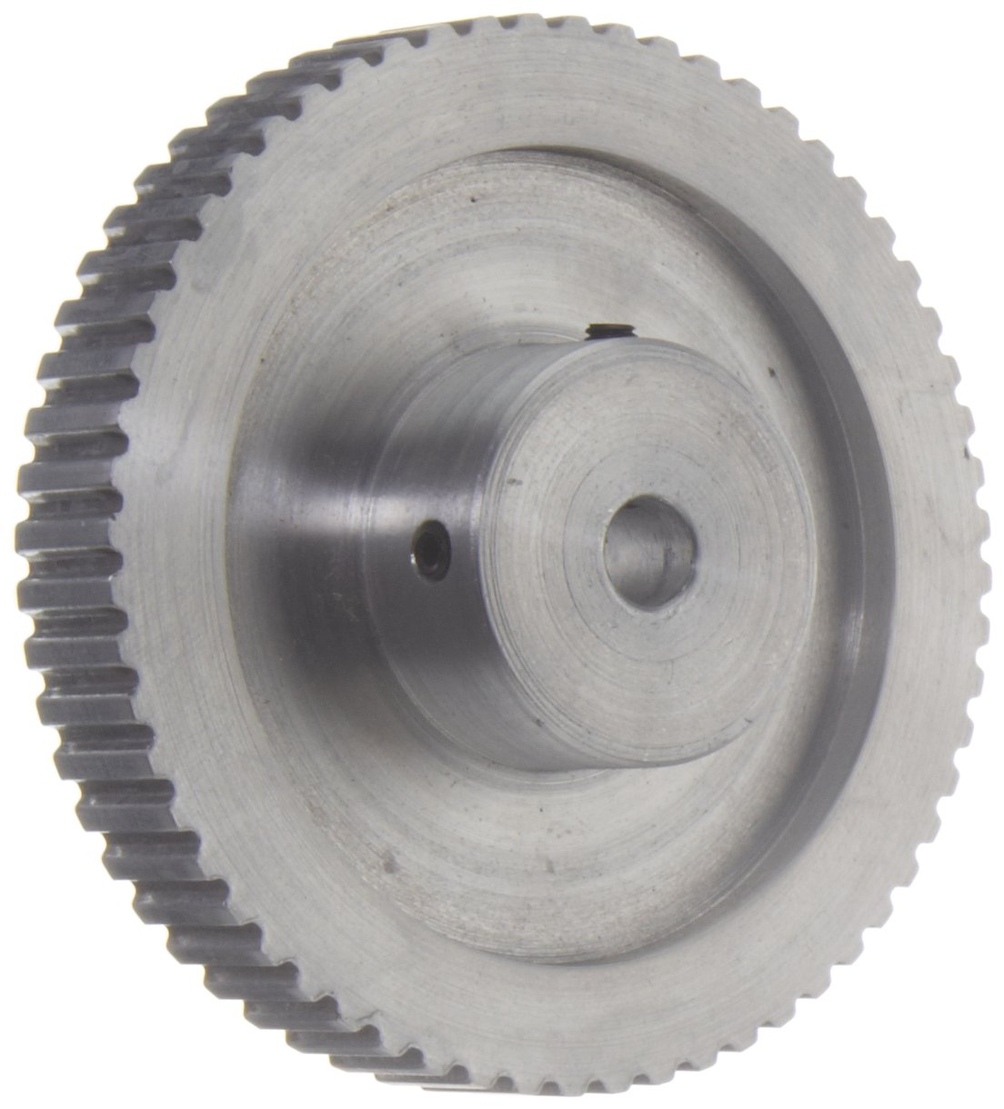 Gates PB60XL037 PowerGrip Aluminum Timing Pulley, 1/5'' Pitch, 60 Groove, 3.820'' Pitch Diameter, 3/8'' to 1'' Bore Range, For 1/4'' and 3/8'' Width Belt