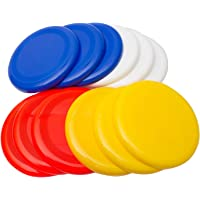 Skera Ultimate Frisbee Plastic Flying Disc! Assorted Colors Flying Disk for Outside Play