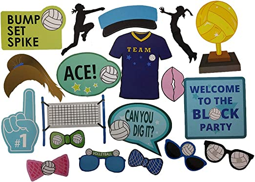 VOLLEYBALL Birthday Party Supply DELUXE KIt w// Dinner Plates