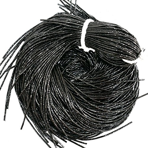 French Bullion Wire(Nakshi), Black Color, 1MM, 50.29 Mtr(100 Gram) (Wire French Bullion)