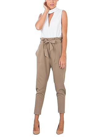 Missy Chilli Damen Hosen Elegant High Waist Skinny Strech Skinny Chiffon  Hosen Casual Streetwear Pants  Amazon.de  Bekleidung 88d49b0e20