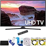 Samsung UN65MU6300FXZA 65'' 4K Ultra HD Smart LED TV (2017 Model) Plus Terk Cut-the-Cord HD Digital TV Tuner and Recorder 16GB Hook-Up Bundle