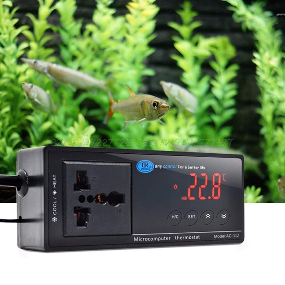 Digital Reptile Thermostat Best Quality, Digital Led Temperature Controller Thermostat UK EU Us Jul07 - Digital Temperature Controller Thermostat Aquarium, Temperature Controller Thermostat Aquarium by MUSLIN MINK