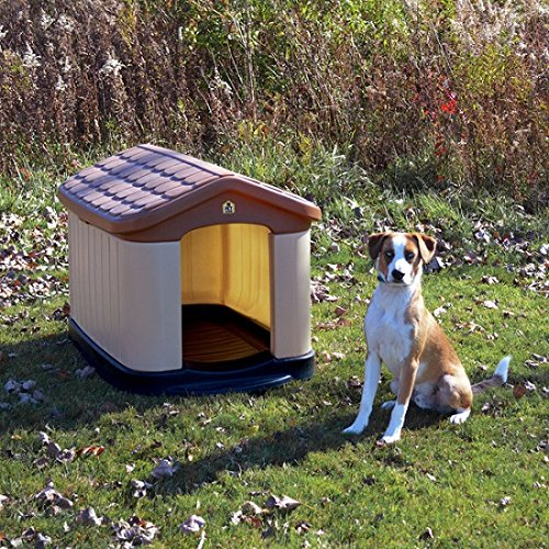 Tuff-N-Rugged Large All Weather Double Insulated Dog House with Fade-resistant Colors with UV Protection (Dog Tuff N-rugged House)