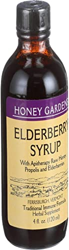 Honey Gardens, Honey Elderberry Extract, 4 Fl Oz