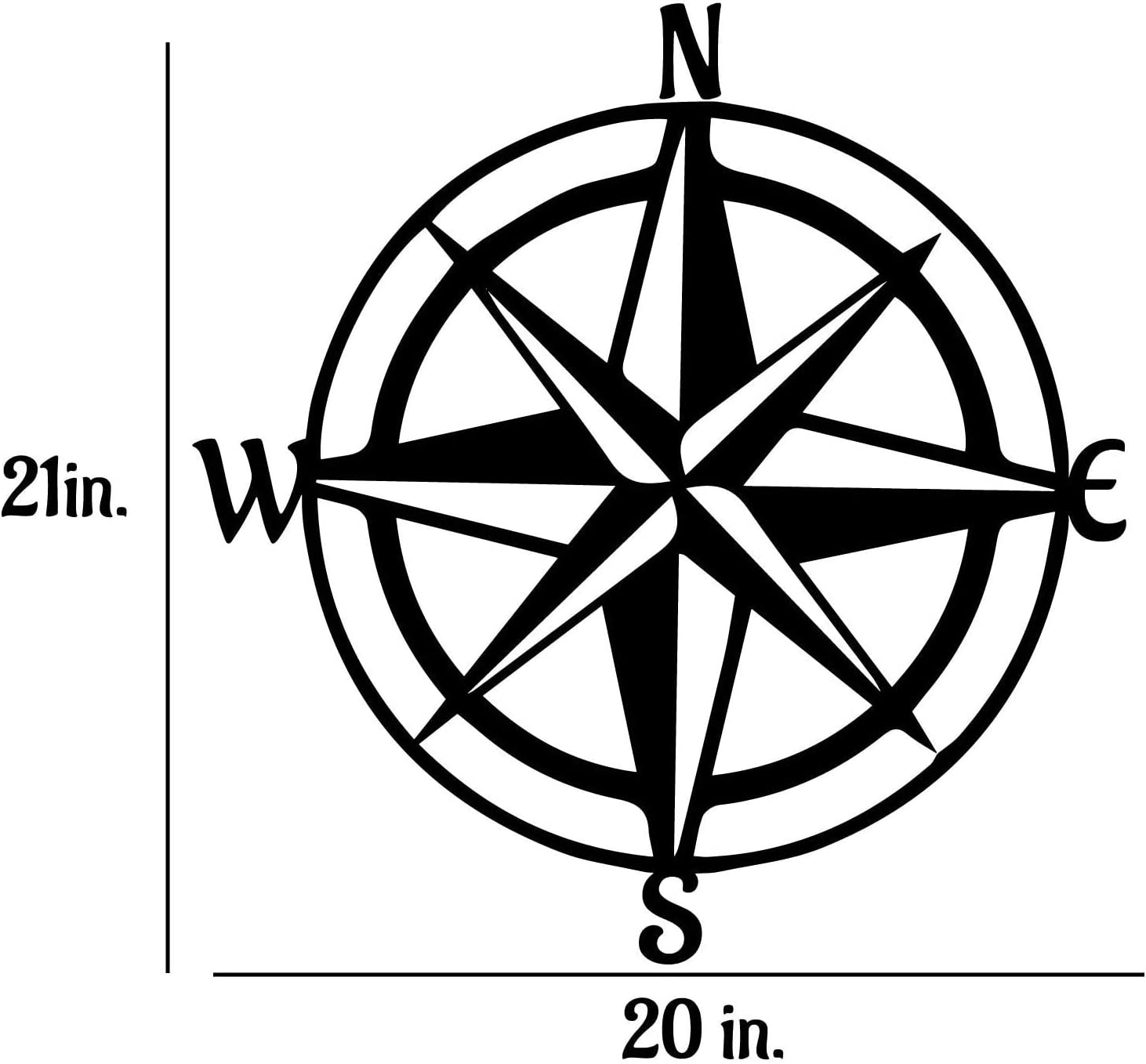 Removable Vinyl Wall Decal compliments Seaside Beach Decor in your home or a vacation home Nautical Compass Rose Decal