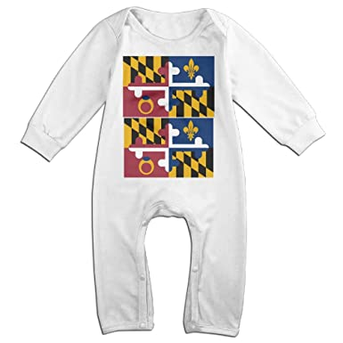 Amazon Com Flag Of Maryland Baby Girl Boy Clothes Cartoon Baby