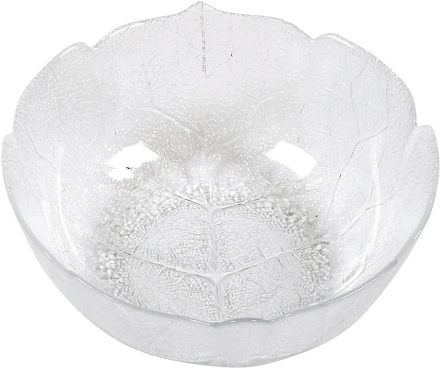 Luminarc aspen lot de 6 assiettes en forme de feuille de harnais leafen verre 23 cm
