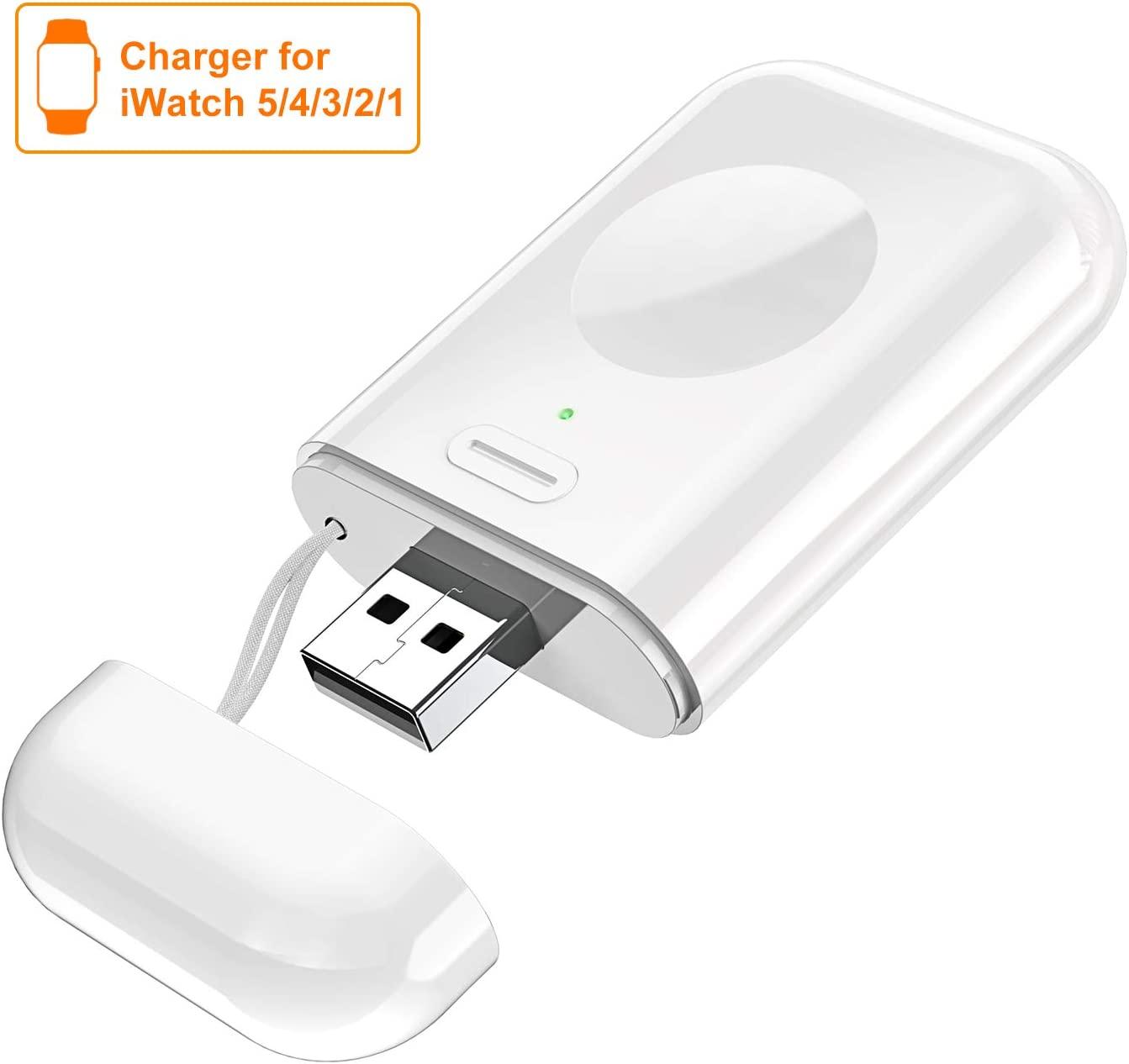 Cocoda Chargeur sans Fil pour Apple Watch, Portable Station de Charge Magnétique avec Interrupteur & Voyant de Puissance pour Voyage, 1000mAh Batterie