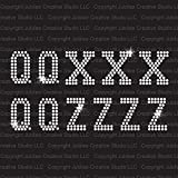 Q, X & Z - Athletic Jersey Letter Sheets Iron On Rhinestone Crystal Transfer by JCS Rhinestones