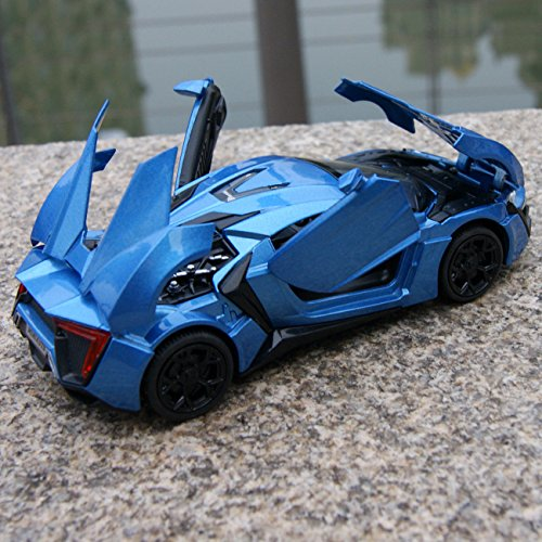 Shark Casting Kit (Lykan Hypersport Sound & Light Model Cars 1:32 Alloy Diecast Blue Toys Gifts New)