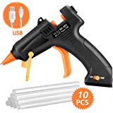 TOPELEK Cordless Hot Glue Gun, Mini Glue Gun Kit with 10Pcs Glue Sticks, USB Charging High Temp Melt Glue Gun for DIY…