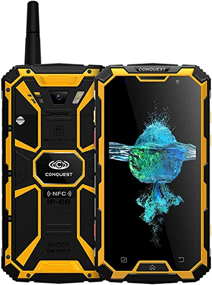 Conquest S8 + Teléfono triple desbloqueado 4GB + 64GB IP68 ...