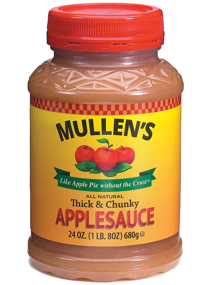 Mullen's Applesauce ''Like Apple Pie without the Crust'' | Chicago's Finest All-Natural Applesauce Original Recipe, Thick and Chunky, 24 oz Jars (Case of 12 jars)