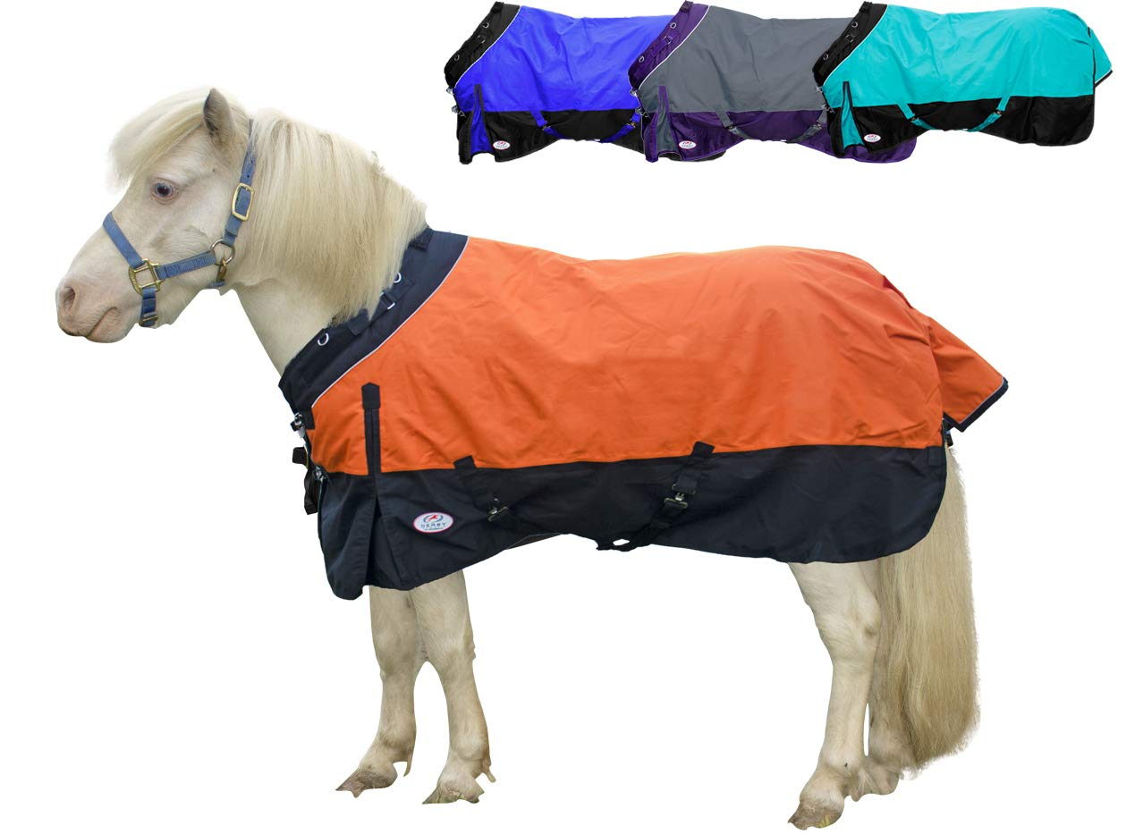 Derby Originals Windstorm Series Premium Mini Horse and Pony Winter Turnout Blanket with 1200D Ripstop Waterproof Nylon Exterior Heavy Weight 300g Polyfil Insulation