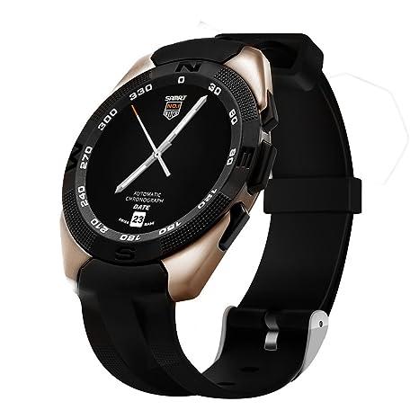 Casual Smart Bluetooth reloj para hombre, pantalla de reloj movimiento reloj inteligente paso oro Instagram