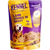 Kennel Kitchen Wet Dog Food for Both Adult & Puppy Lamb Chunks in Gravy 100 Grams (10-Pack)