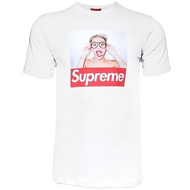 49c00b51a4d9 Supreme Damen T-Shirt Maylin Cyrus H3 weiss M  Amazon.de  Bekleidung