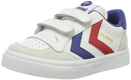 Hummel Stadil Jr Leather Low, Zapatillas Unisex Niños, Blanco (White), 31 EU