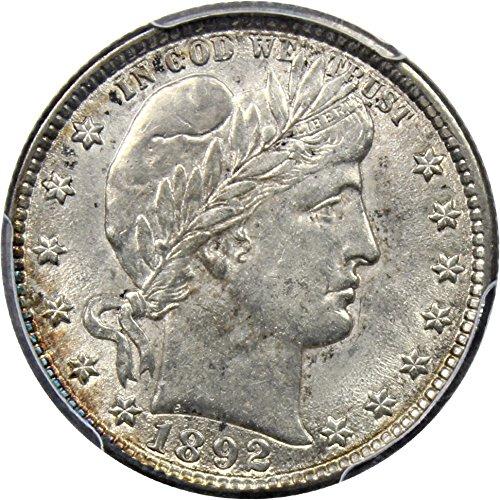 1892 O Barber Quarters Quarter AU58 PCGS\CAC