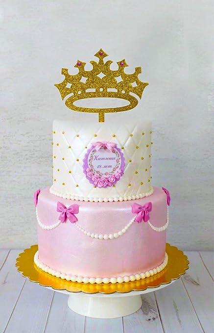 Amazon Com Usa Sales Princess Crown Cake Topper Girl Birthday
