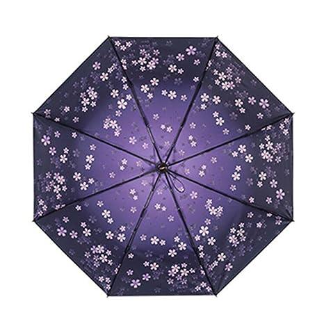 Umbrellas Black Cherry Goddess Umbrella Sunscreen Strength Windproof UV 99 Non Slip Handle Quick