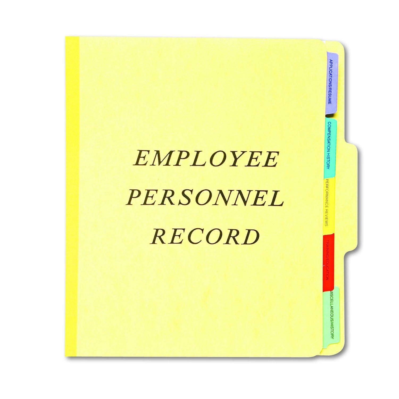 Pendaflex Vertical Personnel Folders, 1/3 Cut, Top Tab, Letter, Yellow,10 Per Box, (SER-1-YEL)