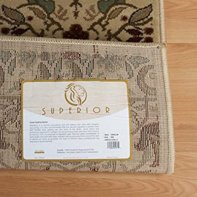 "Superior Elegant Camille Collection Area Rug, 2' 3"" x 8' Runner"