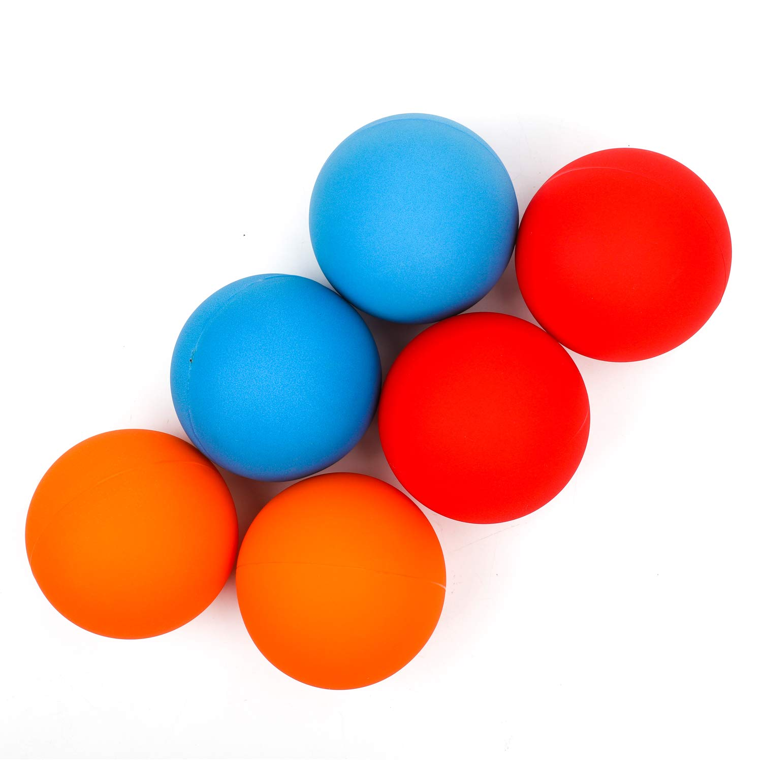 YuXing Professional Juggling Ball Set, Large Size=3.5'', for Beginners&Professionals, for Adults, Set of 6 (Red Blue Orange)