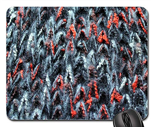 Mouse Pads - Shawl Wool Clothing Frost Weave Fabric Model