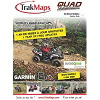 TrakMaps ATV Quebec Map for Garmin including routable official FQCQ trails of Quebec