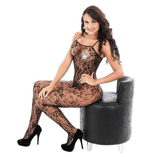 091ea551227 POTO Sexy Lingerie for Women for Sex Open Crotch Bodystockings Underwear  Floral Babydoll Bodysuit Nightwear(