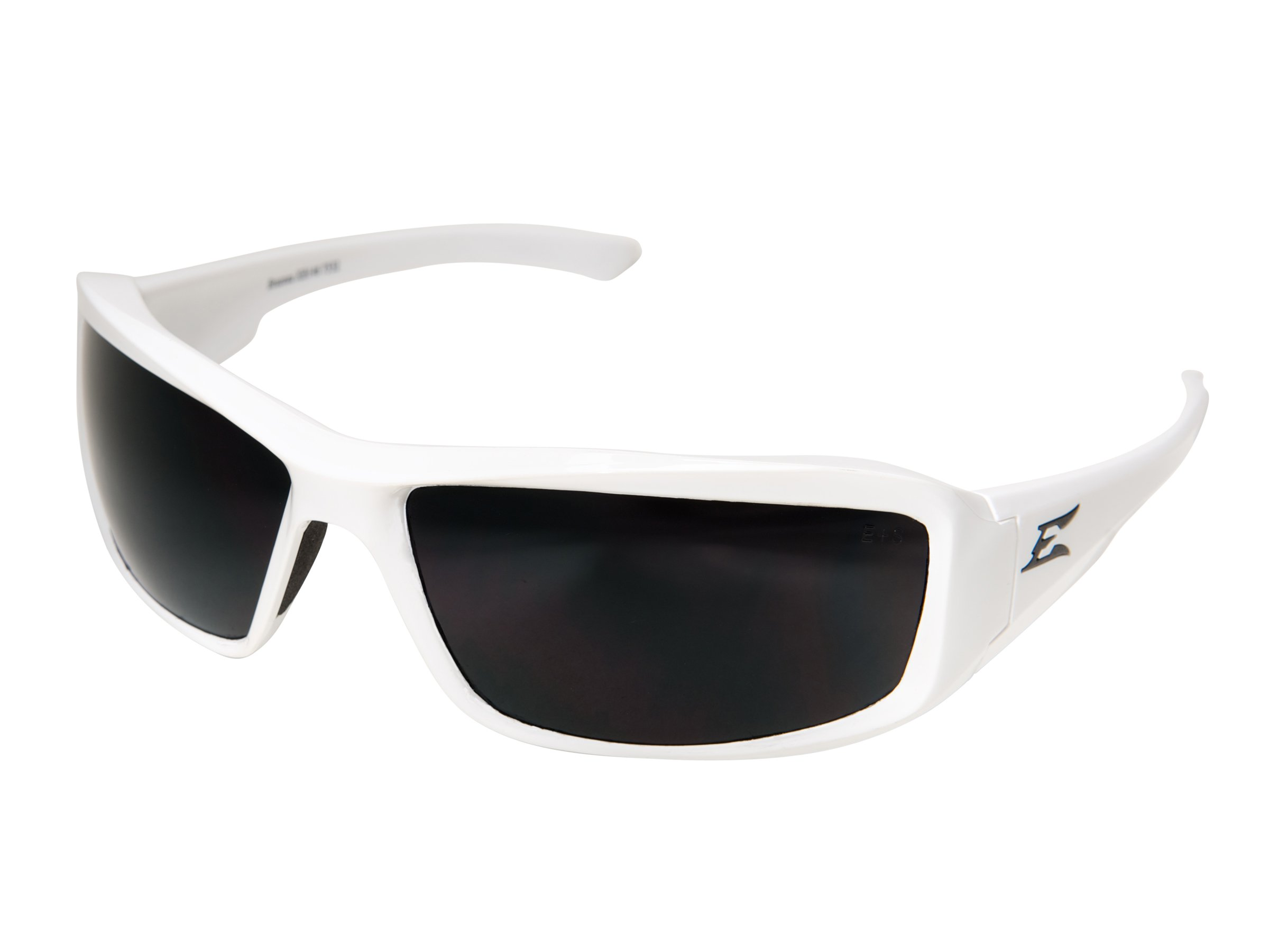 4001990 Edge Eyewear Brazeau White Frame Polarized Smoke Lens